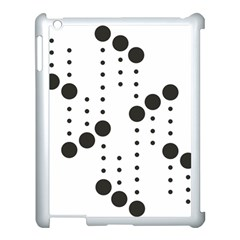 Black Circle Apple Ipad 3/4 Case (white)