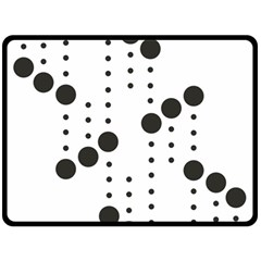 Black Circle Double Sided Fleece Blanket (large)
