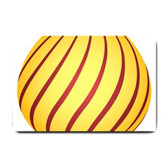 Yellow Striped Easter Egg Gold Small Doormat  by Alisyart