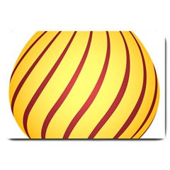 Yellow Striped Easter Egg Gold Large Doormat