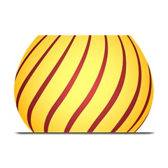 Yellow Striped Easter Egg Gold Plate Mats by Alisyart