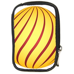 Yellow Striped Easter Egg Gold Compact Camera Cases by Alisyart