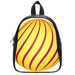 Yellow Striped Easter Egg Gold School Bags (small)  by Alisyart
