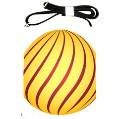 Yellow Striped Easter Egg Gold Shoulder Sling Bags