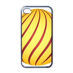 Yellow Striped Easter Egg Gold Apple Iphone 4 Case (black)