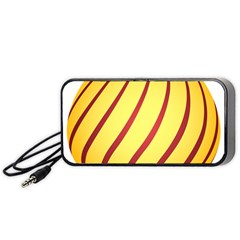 Yellow Striped Easter Egg Gold Portable Speaker (black) by Alisyart