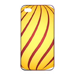 Yellow Striped Easter Egg Gold Apple Iphone 4/4s Seamless Case (black)