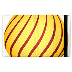 Yellow Striped Easter Egg Gold Apple Ipad 2 Flip Case by Alisyart