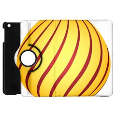 Yellow Striped Easter Egg Gold Apple Ipad Mini Flip 360 Case