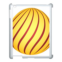Yellow Striped Easter Egg Gold Apple Ipad 3/4 Case (white)