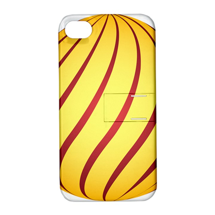 Yellow Striped Easter Egg Gold Apple iPhone 4/4S Hardshell Case with Stand