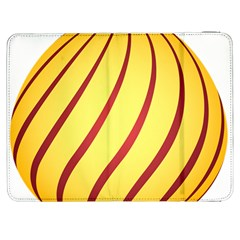 Yellow Striped Easter Egg Gold Samsung Galaxy Tab 7  P1000 Flip Case