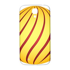 Yellow Striped Easter Egg Gold Samsung Galaxy S4 I9500/i9505  Hardshell Back Case