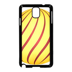 Yellow Striped Easter Egg Gold Samsung Galaxy Note 3 Neo Hardshell Case (black)