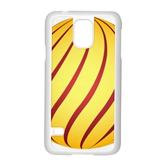 Yellow Striped Easter Egg Gold Samsung Galaxy S5 Case (white)