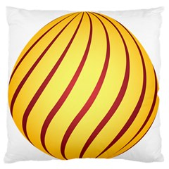 Yellow Striped Easter Egg Gold Large Flano Cushion Case (one Side) by Alisyart