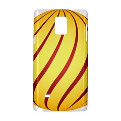 Yellow Striped Easter Egg Gold Samsung Galaxy Note 4 Hardshell Case
