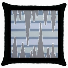 Cavegender Pride Flag Stone Grey Line Throw Pillow Case (black) by Alisyart