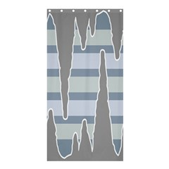 Cavegender Pride Flag Stone Grey Line Shower Curtain 36  X 72  (stall)  by Alisyart