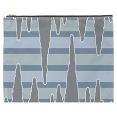 Cavegender Pride Flag Stone Grey Line Cosmetic Bag (xxxl)