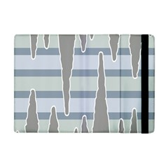 Cavegender Pride Flag Stone Grey Line Apple Ipad Mini Flip Case by Alisyart