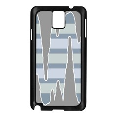 Cavegender Pride Flag Stone Grey Line Samsung Galaxy Note 3 N9005 Case (black) by Alisyart
