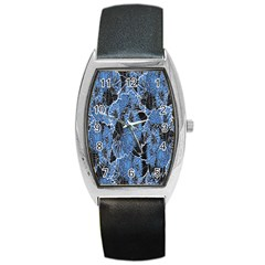 Floral Pattern Background Seamless Barrel Style Metal Watch by Simbadda