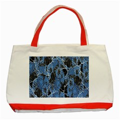 Floral Pattern Background Seamless Classic Tote Bag (red) by Simbadda