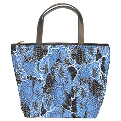 Floral Pattern Background Seamless Bucket Bags by Simbadda