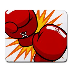Boxing Gloves Red Orange Sport Large Mousepads by Alisyart