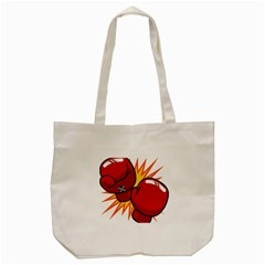 Boxing Gloves Red Orange Sport Tote Bag (cream) by Alisyart