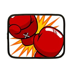 Boxing Gloves Red Orange Sport Netbook Case (small)