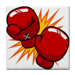 Boxing Gloves Red Orange Sport Face Towel by Alisyart
