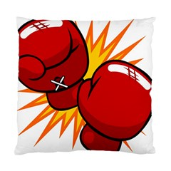 Boxing Gloves Red Orange Sport Standard Cushion Case (two Sides) by Alisyart