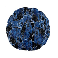 Floral Pattern Background Seamless Standard 15  Premium Flano Round Cushions by Simbadda