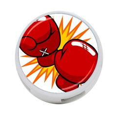 Boxing Gloves Red Orange Sport 4 Port Usb Hub (two Sides)  by Alisyart