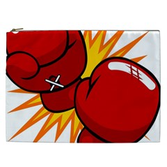 Boxing Gloves Red Orange Sport Cosmetic Bag (xxl)  by Alisyart