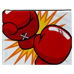 Boxing Gloves Red Orange Sport Cosmetic Bag (xxxl)