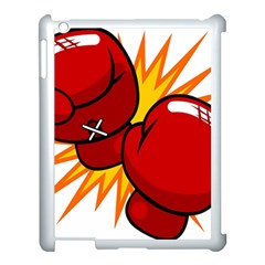 Boxing Gloves Red Orange Sport Apple Ipad 3/4 Case (white)