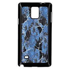 Floral Pattern Background Seamless Samsung Galaxy Note 4 Case (black)