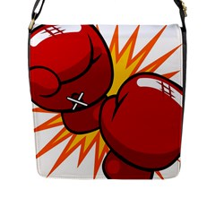 Boxing Gloves Red Orange Sport Flap Messenger Bag (l)  by Alisyart