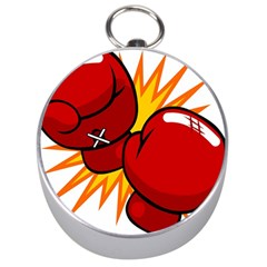 Boxing Gloves Red Orange Sport Silver Compasses