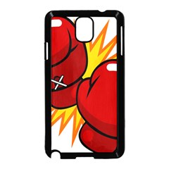 Boxing Gloves Red Orange Sport Samsung Galaxy Note 3 Neo Hardshell Case (black)