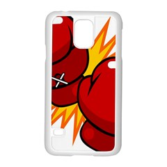 Boxing Gloves Red Orange Sport Samsung Galaxy S5 Case (white)