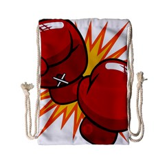 Boxing Gloves Red Orange Sport Drawstring Bag (small) by Alisyart