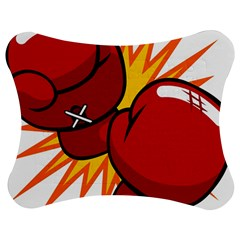 Boxing Gloves Red Orange Sport Jigsaw Puzzle Photo Stand (bow) by Alisyart