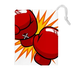 Boxing Gloves Red Orange Sport Drawstring Pouches (extra Large) by Alisyart