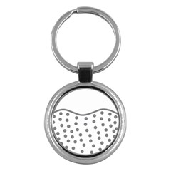 Cool Gel Foam Circle Grey Key Chains (round)  by Alisyart