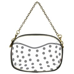 Cool Gel Foam Circle Grey Chain Purses (one Side)  by Alisyart