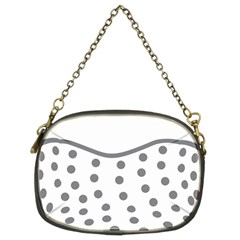 Cool Gel Foam Circle Grey Chain Purses (two Sides)